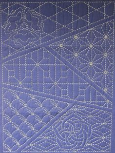 Sashiko sampler of patterns