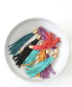 DIY Leather Tassels | Centsational Girl