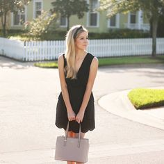 Little black scallop dress today on adaydreamlove.com Added a ribbon in my hair for the finishing touch! #ootd
