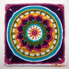 Moogly 2015 Afghan CAL - the gorgeous square #19, by Pink Mambo! FREE pattern!