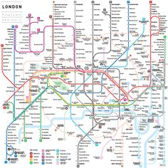 Could this be the ultimate tube map redesign? A reworking of the London Underground map by Jug Cerović London Tube Map, London Map, London City, London Travel, London Places, Metro Subway, Subway Map, London Underground, Underground Tube