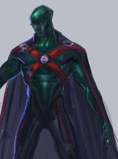 ArtStation - Martian Manhunter concept (wip), Rose Davies