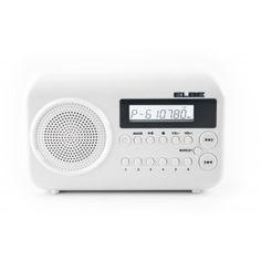ELBE RF-88-USB RADIO DIGITAL PORTÁTIL CON LECTOR USB+SD - Radio FM digital con memoria para 10 emisoras. - Lector MP3, USB y SD. - Altavoz incorporado. - Salida auriculares 3.5mm. - Alimentación con adaptador (incluido) ó pilas (4xAA, no incluidas). - Antena telescópica. - (An-Al-Pr): 17 x 10.5 x 4 cm.