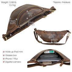 Men-039-s-Vintage-Leather-Small-Belt-Bag-Waist-Belt-Fanny-Pack-Sports-Sling-Backpack