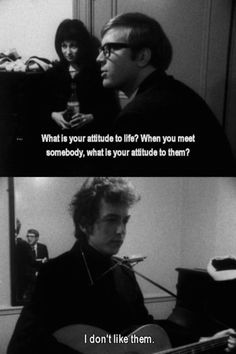 Bob Dylan loving humans.