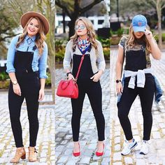 Instagram~ @whatcourtwore 3 ways to rock the overall trend!  Outfit details- www.liketk.it/2fud1