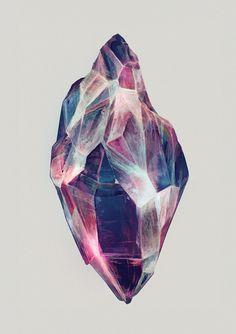 Healing Crystals by Eibatova Karina, via Behance