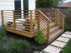 ideas about backyard deck designs on unusual patio backyard deck design ideas ideas about wood deck designs on astonishing patio design ideas 7 home outdoor deck ideas pictures Horizontal Deck Railing, Wood Deck Railing, Front Porch Railings, Deck Railing Design, Deck Railing Ideas Diy, Deck Stairs, Wood Patio, Porch Ideas, Decking Handrail