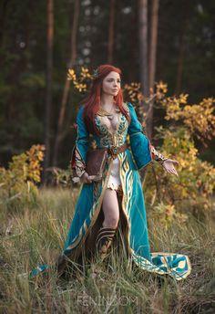 d9e788743fe32 Witcher 3 Wild Hunt Triss Merigold Alternative Cosplay Corset Fantasy  Ballgown Wedding Green Corsetry Handmade Dress Custom Made