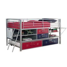 DHP Junior Twin Loft Bed with Storage | Wayfair