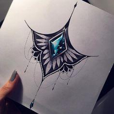 Juwel Tattoo, Haut Tattoo, Underboob Tattoo, Mandala Tattoo, Neue Tattoos, Body Art Tattoos, Cool Tattoos, Tatoos, Small Tattoos