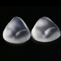 1Pair Fashion Saxy Bikini Bra Insert Triangle Silicone Invisible Pads Breast Enhancer Swimsuit Dress Bikini Push Up 2 Colors