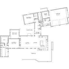 Modern Style House Plan - 2 Beds 2 Baths 2331 Sq/Ft Plan #892-8 Main Floor Plan - Houseplans.com