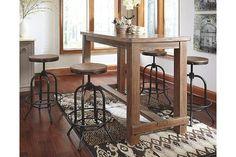 Pinnadel Dining Room Pub Table by Ashley HomeStore, Light Brown