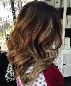 Brown Hair With Blonde Highlights red and ash blonde highlights