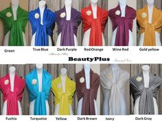 7 Any color of your choice of Pashmina Scarf or Shawl. For other color see my shop. $70.00, via Etsy.