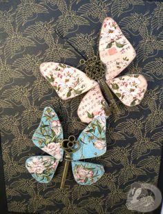 Butterflies from old keys