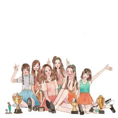 The Winners Of The 2016 Melon Music Awards Best Dance (Female) 💙 GFRIEND 💙 Congratulations! sennelier on arches . Best Friends Cartoon, Friend Cartoon, Girl Cartoon, Best Friend Drawings, Bff Drawings, Bff Pictures, Pictures To Draw, Hachiko Statue, Best Friend Images