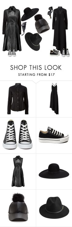 """Sem título #600"" by larieshine ❤ liked on Polyvore featuring Dolce&Gabbana, Nostra Santissima, Converse, Acne Studios, Maison Michel, BeckSöndergaard, Chanel and Versace"