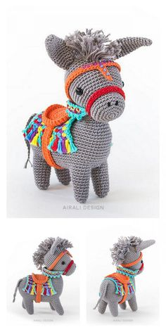 Poney Crochet, Crochet Pony, Cute Crochet, Crochet Crafts, Crochet Dolls, Crochet Projects, Knit Or Crochet, Amigurumi Doll Pattern, Crochet Amigurumi Free Patterns