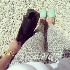 Mint loafers.