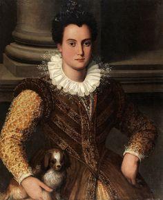 Santi di Tito, Ritratto de gentildonna Private collection  Gorgeous sleeves!