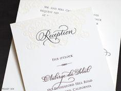 Spot calligraphy reception card | East Six | eastsix.com