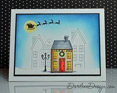 Holiday Home- love the outline images behind the main coloured house.