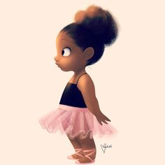 """Little Ballerina"" by Vashti Harrison Black Love Art, Black Girl Art, My Black Is Beautiful, Art Girl, Black Girls, Afrique Art, Timberwolf, Black Art Pictures, Natural Hair Art"