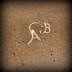 ABC Nose stud nose jewelry 14k gold personalized by studiolil