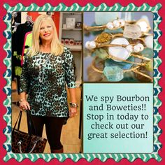 Lori is rockin' her Bourbon and Boweties during our commercial shoot!!