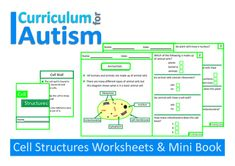 Biology Cell Structures Worksheets and Mini Book for students with Autism.This pack is designed for students with Autism in General Education science classes. Please check the preview to make sure that this pack is at the correct level for your students.This pack includes - 5 worksheets with a short explanation and multiple choice questions- 1 mini book You might also like:Chemical Reactions PackAtoms and Molecules Comprehension PackCarnivores Interactive Adapted Book Be the first to know…