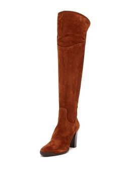 over the knee boot in rust