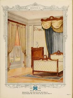 Bed Room :: Home decoration, 1917 / Alfred Peats Co.