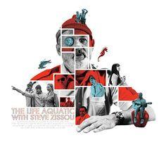 The Life Aquatic with Steve Zissou (2004) ~ Alternative Movie Poster by Michael Sapienza #amusementphile