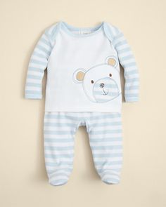 Absorba Striped Bear Shirt and Footie Set Newborn Outfits, Baby Boy Outfits, Hunting Baby, Kid Swag, Take Home Outfit, Baby Wearing, Baby Bodysuit, Baby Kids, Kids Fashion