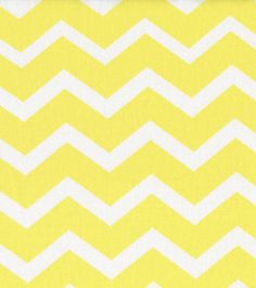 Yellow and white chevron fabric.  Possible curtains for babies room.