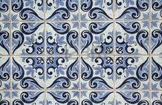 azulejos: Traditionnels azulejos portugais - peint le carrelage en céramique