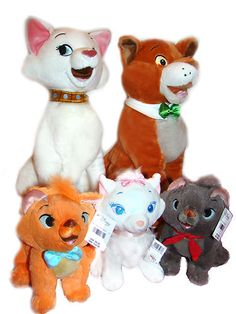 Disney The Aristocats Thomas OMalley plush no Toulouse Berlioz Marie Duches Disney Cats, Disney Plush, Baby Disney, Disney Pixar, Disney Characters, Disney Dream, Disney Love, Aristocats Party, Disney Stuffed Animals