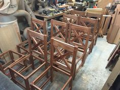 10 chairs. 1 coat of finish.