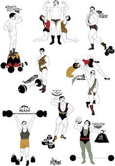 handmade muscle men designer wallpaper
