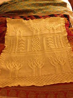 KNITTED TREE OF LIFE FREE PATTERN
