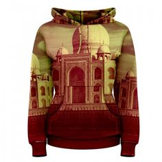 "Women's Pullover Hoodie - ""Taj Mahal"" 