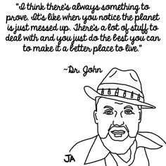Life Lessons From Dr. John, In Illustrated Form. Illustrations by Jena Ardell for OC Weekly Music.
