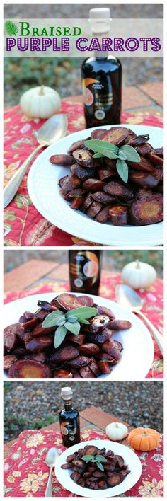 Easy Recipe for Braised Purple Carrots with a Balsamic Glaze. The perfect holiday side dish recipe. CeceliasGoodStuff.com | Good Food for Good People
