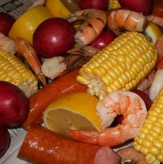 Paleo Crockpot Shrimp & Sausage Boil than pour down the table for wedding supper!