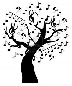 music tree Stock Photo