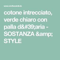 cotone intrecciato, verde chiaro con palla d'aria - SOSTANZA & STYLE