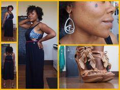 80's Vintage Apron Dress...  demure + fun  see blog post @ www.VintijAdorned.com