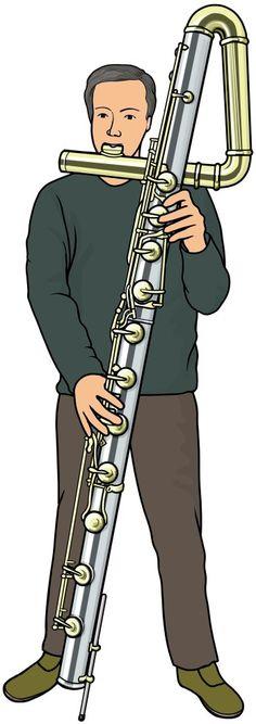 管楽器:コントラバス フルートの演奏 (contrabass flute)
